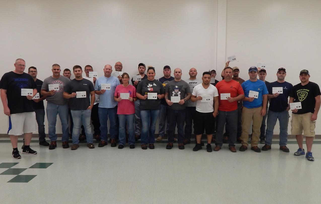 USW Local 104 members